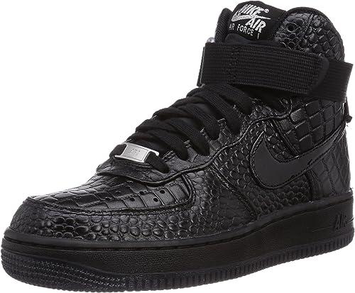 Nike Damen Air Force 1 Premium High Top Schwarz Black