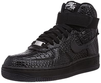 Nike Damen Air Force 1 Premium High-Top Schwarz Black-metallic ...