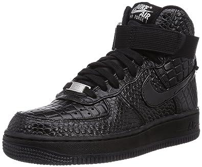 Nike Damen Air Force 1 Premium High-Top Schwarz Black ...