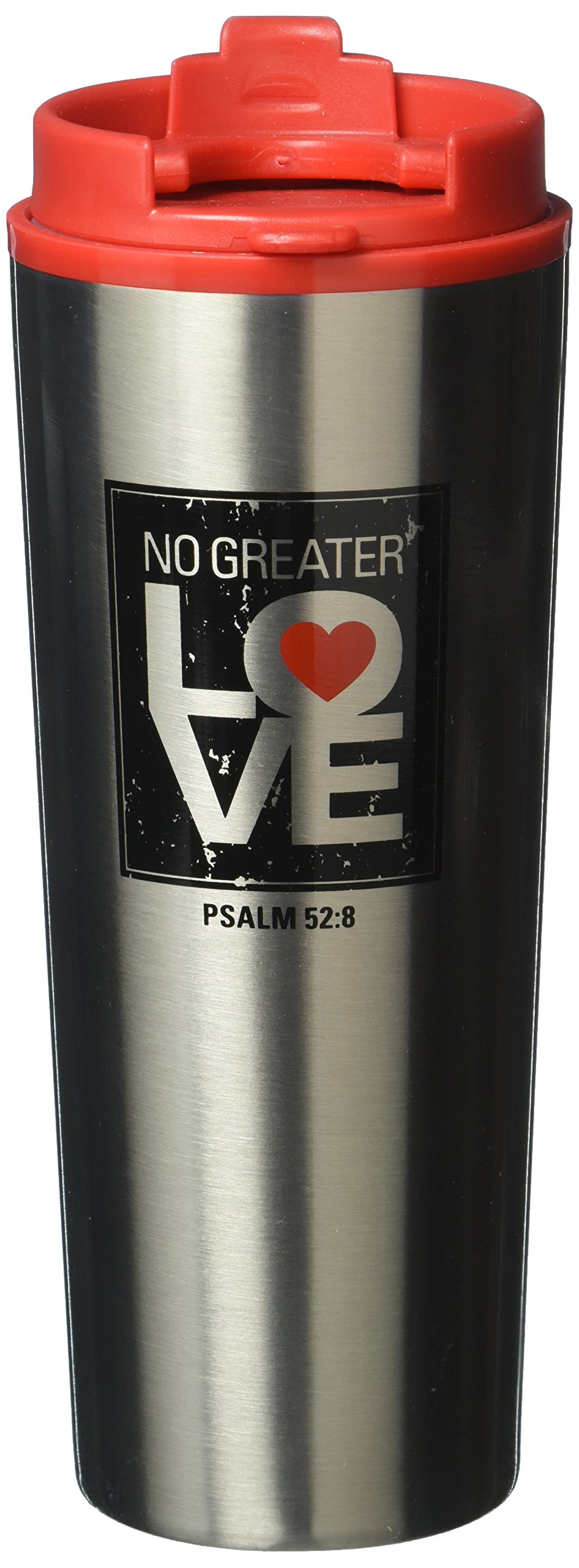 Lighthouse Christian Products No Greater Love Stainless Steel Tumbler Mug, 16 oz