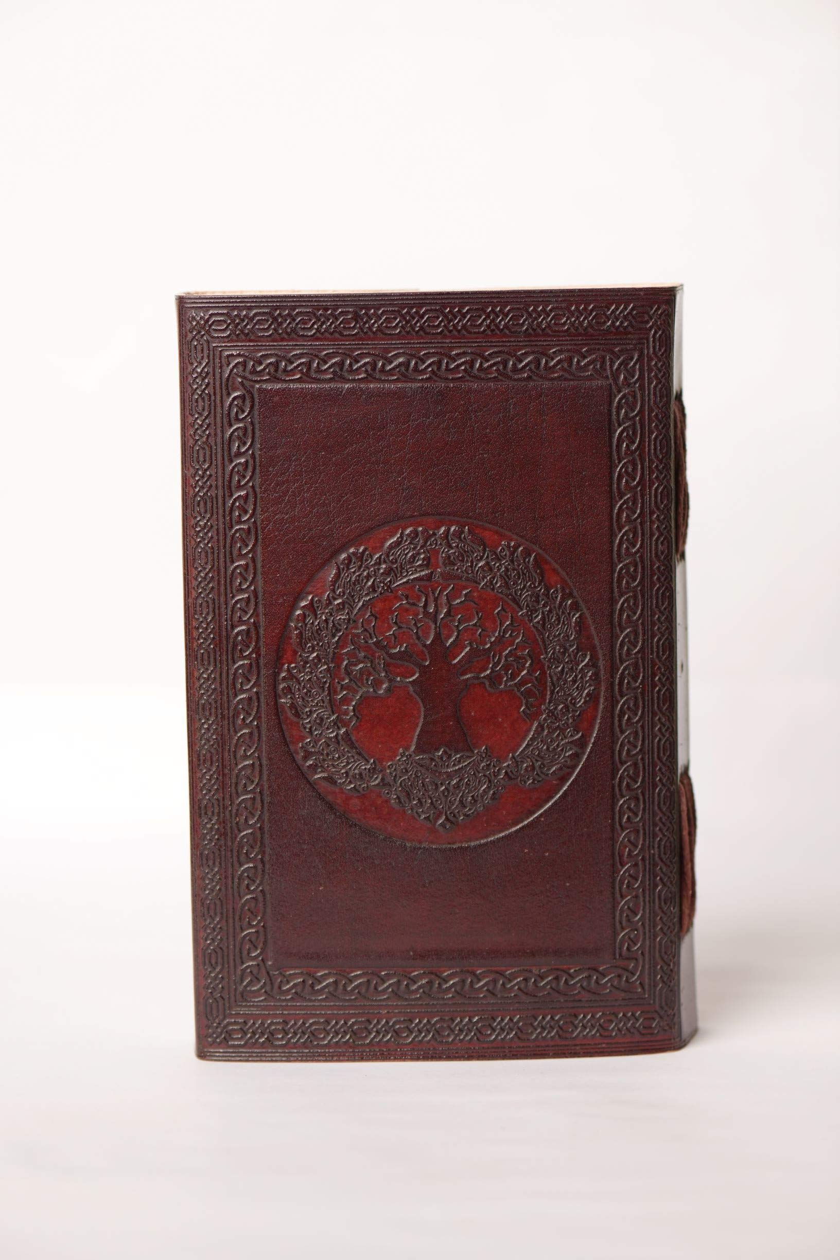 karim jounal Antique Tree of Life Handmade Brown Leather Diary/Travel Writing Journal Notebook with Strap/Refillable-Gift