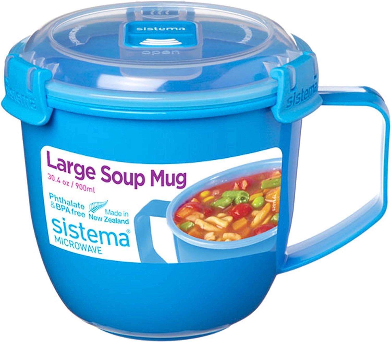 Sistema To Go Collection Soup Mug, Large, Varied, 1 count