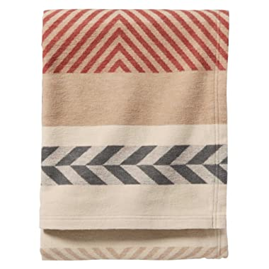 Pendleton Mojave Cotton Jacquard Blanket. Beige, Queen Size