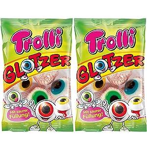 Trolli Glotzer Eyeball Gummies Pack of 2 - Sour Filled Fruit Gum