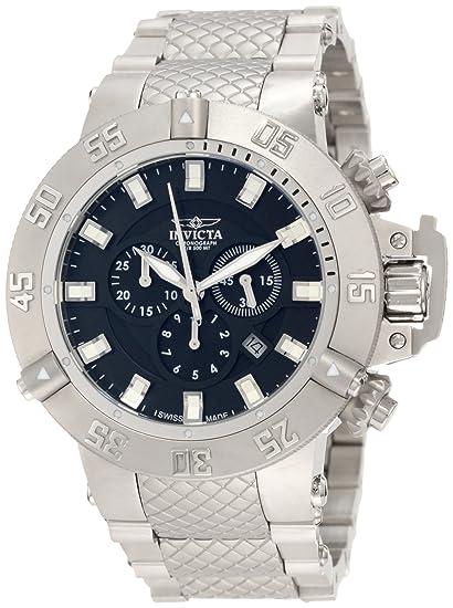 Invicta Caballero 1194 Subaqua Noma III cron-grafo Black Dial Stainless Steel Reloj: Amazon.es: Relojes