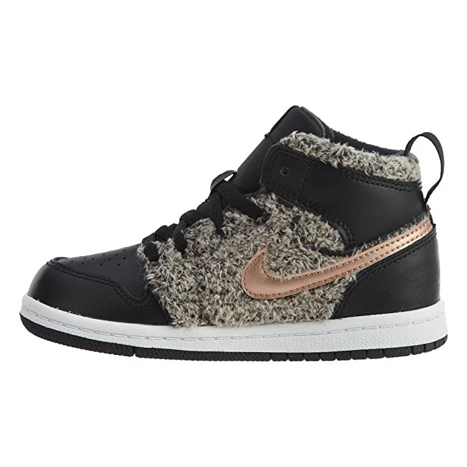 b3aab37f3a99a Jordan 1 Retro High GT Toddler's Shoes Black/Metallic Bronze/White  705324-022