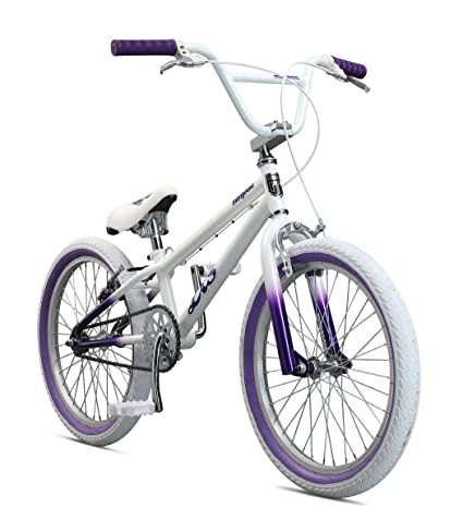 Mongoose Legion LSX Freestyle BMX Bike for Kids, Featuring Hi-Ten Steel Frame and 36x16T BMX Gearing with 20-Inch Wheels, White best bmx bikes