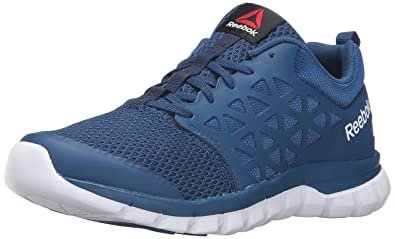 Reebok Women's Sublite Xt Cushion 2.0 WS Mt Running Shoe, Noble Blue/White/