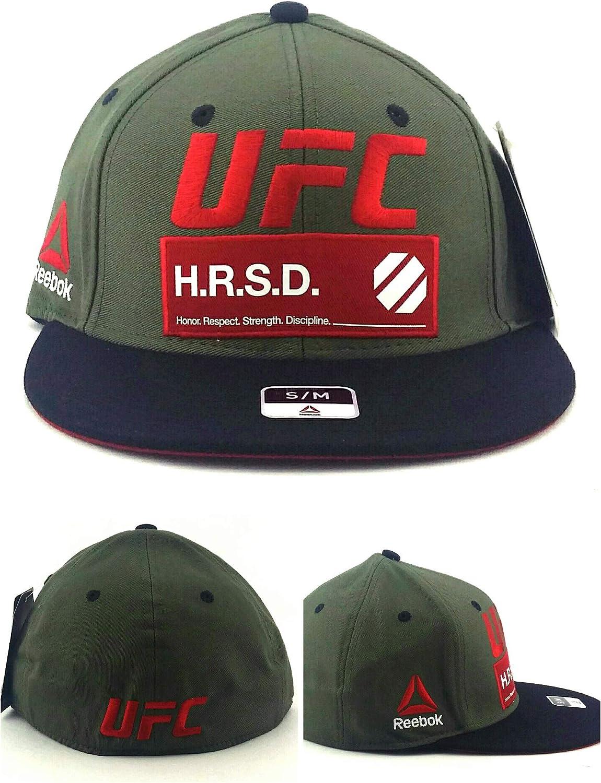 Reebok - Gorra Ajustable, diseño de UFC MMA Olive Black Red ...