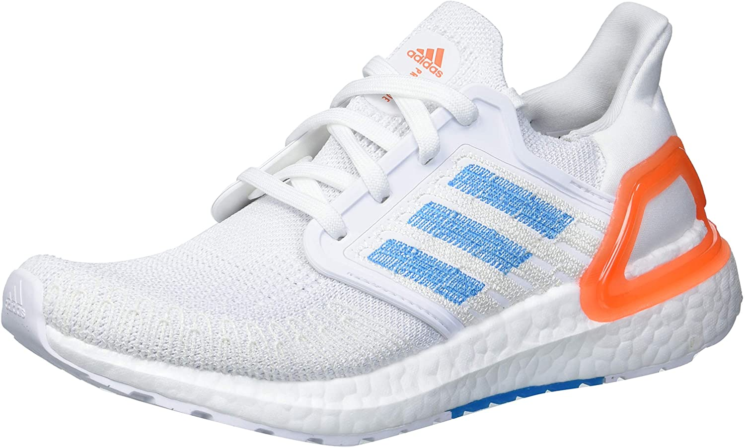 Adidas Men S Ultraboost 20 Primeblue Running Shoe White Sharp Blue True Orange Numeric 9 Point 5 Amazon Ca Shoes Handbags