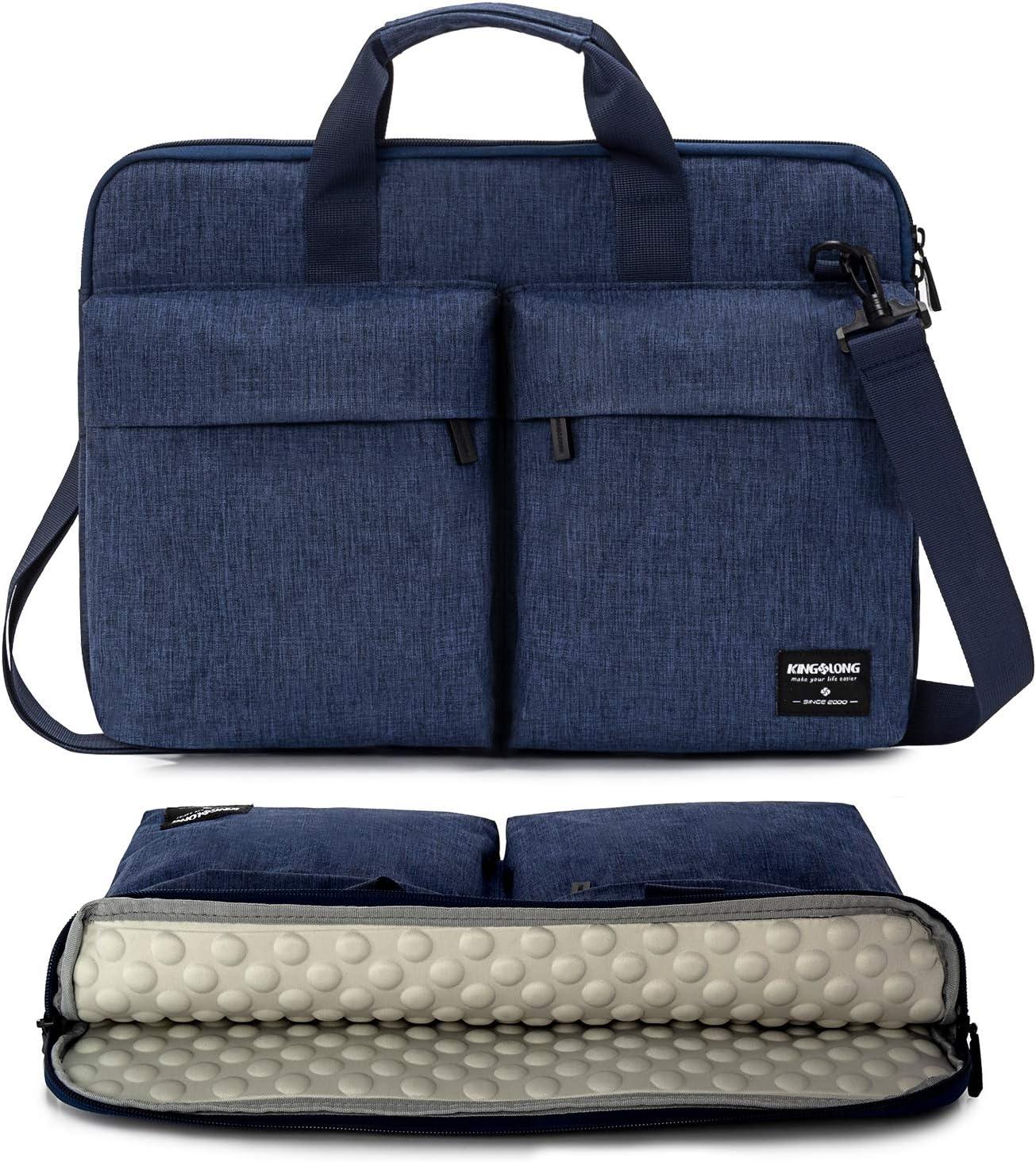 KINGSLONG 15 15.6 Inch Laptop Case Bag Sleeve, Lightweight Laptop Computer Notebook Ultrabooks Carrying Case Sleeve Handbag Cover for Men Women Fit for Acer Asus Dell Lenovo HP Toshiba, Blue