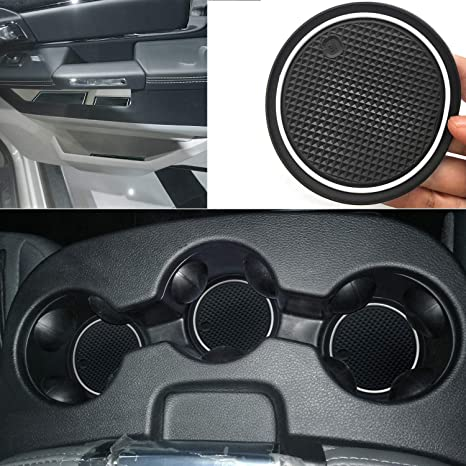 Ram 1500 Accessories >> Auovo Anti Dust Door Mats For Dodge Ram 1500 2500 Crew Cab 2016 2018 Interior Accessories Door Cup Console Liners White For Split Bench Seat Armrest
