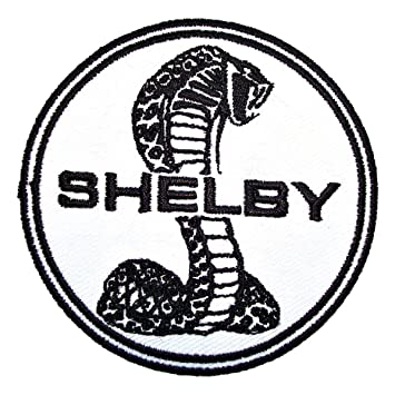 black ford racing logo. ford cobra shelby mustang coupe gt500 logo racing jacket tshirt patch sew iron on black