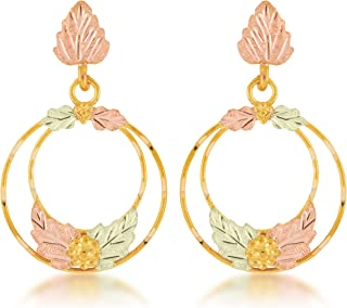product image for Black Hills Gold Circle Earrings