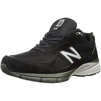 New Balance Men's M990BK4 Running Shoe, Black/Silver, 9.5 D US   Road Running