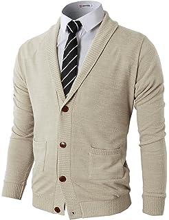 H2H Mens Slim Fit Cardigan Sweater Shawl Collar Soft Fabric With Ribbing  Edge 1e2f09502