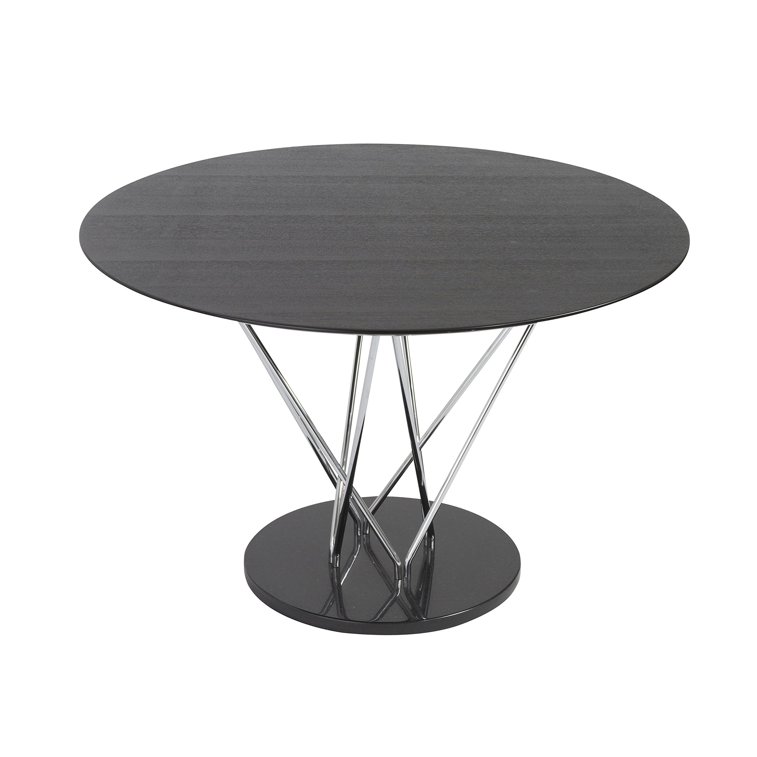 47'' Round Ebony and Steel Meeting Table by eS (Image #3)