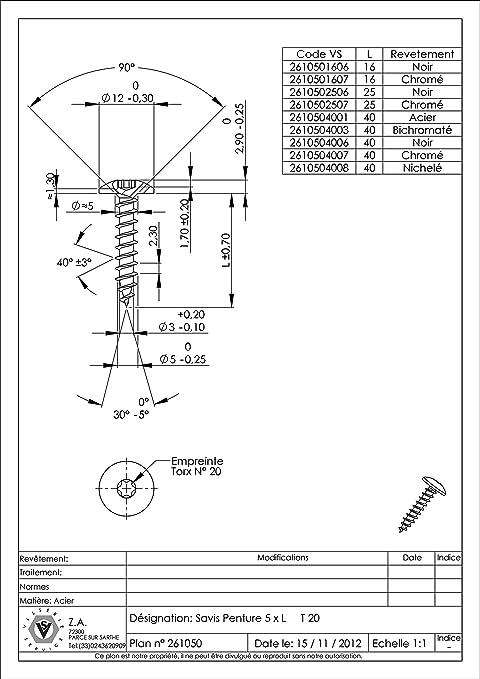 VBA//VIS POUR BOIS AGGLOMERE PENTURE 6X35 TORX T30 ACIER ZINGUE NOIR