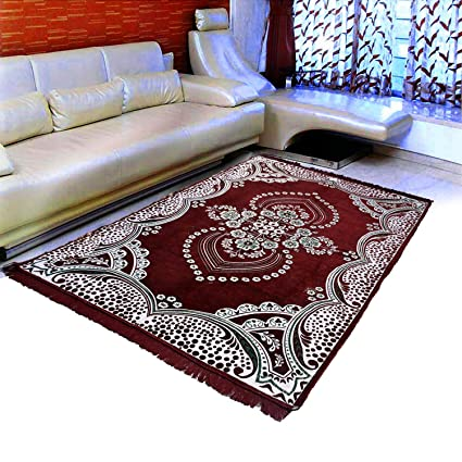 Warmland Traditional Chenille Carpet - 60x 84, Maroon 4