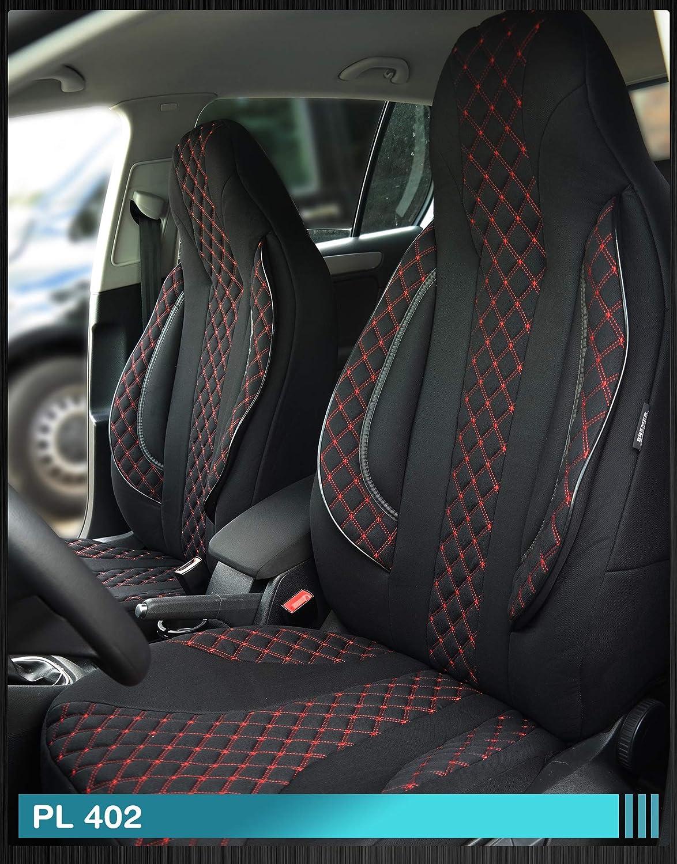 Ma/ß Sitzbez/üge kompatibel mit Audi A4 B8 Fahrer /& Beifahrer ab BJ 2007-2015 Farbnummer PL402