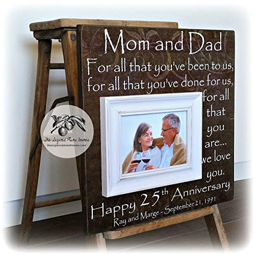 Image Unavailable. Image not available for. Color: 25th Anniversary Gifts for Parents, Silver ...