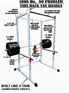 Tds Mega White Power Squat Rack