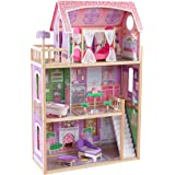 Kidkraft 65900 Ava wooden Dolls House with Furniture and Accessories Included, 3 Storey Play Set for 30 cm/12 Inch Dolls