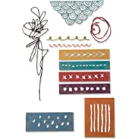 Sizzix Thinlits Die Set 11 Pack 664436, Media Marks by Tim Holtz, Paper, Multicolour, One Size