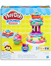 Play-Doh - Kitchen Creations - Frost 'n Fun Cakes inc Cake Tools & 5 Tubs of Dough - Creative Kids Toys - Ages 3+