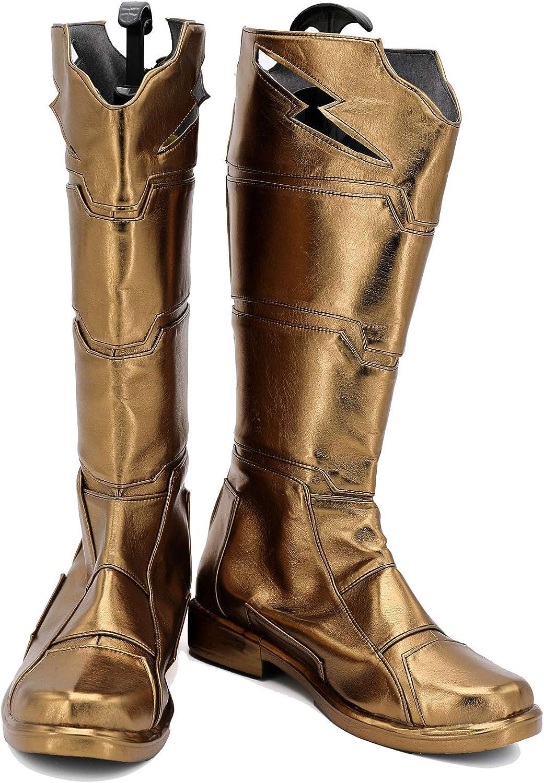 Halloween Hero Billy Cosplay Shoes Costume Boots Custom Made Golden