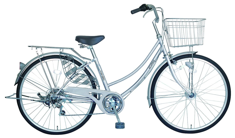 marukin(マルキン) 完全組立 27インチ自転車 LEDオートライト シマノ製6段変速 B077Y86D3K シルバー シルバー