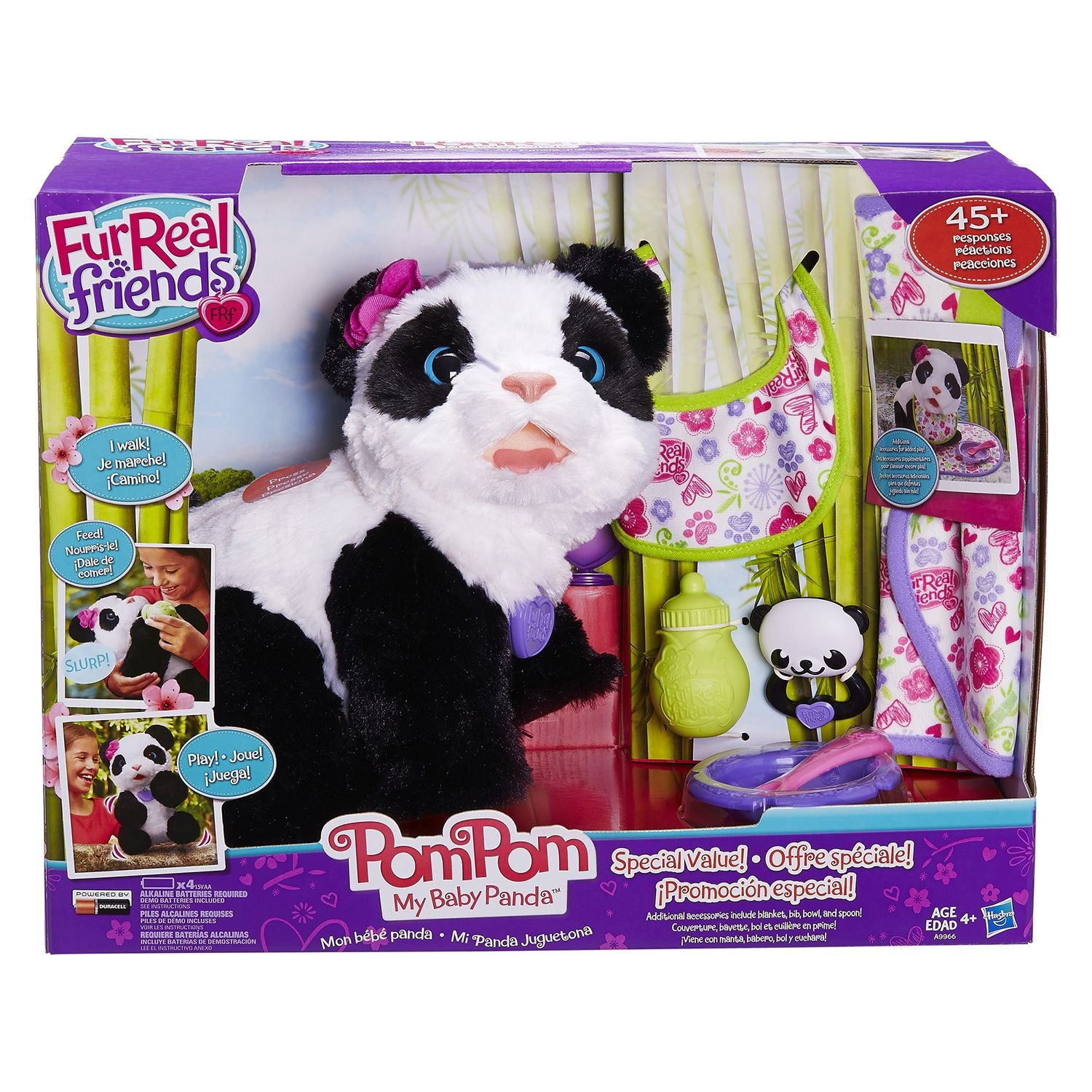 Fur Real Friends Pom Pom My Baby Panda Deluxe Set Panda Pet Plush by FurReal (Image #1)