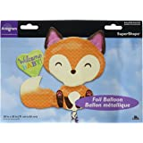 "Anagram International Welcome Baby Fox Shape Balloon, 28"", Multicolor"