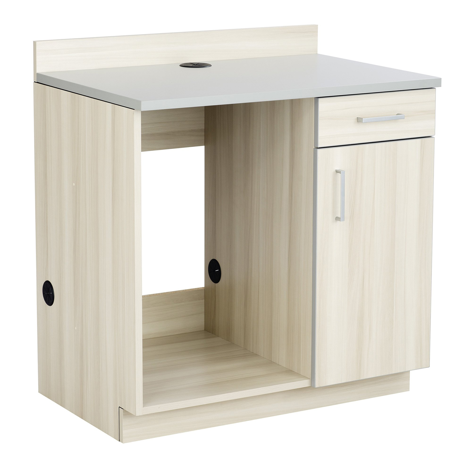 Safco Products 1705VS Modular Hospitality Breakroom Base Cabinet, Appliance, Vanilla Stix Base/Gray Top