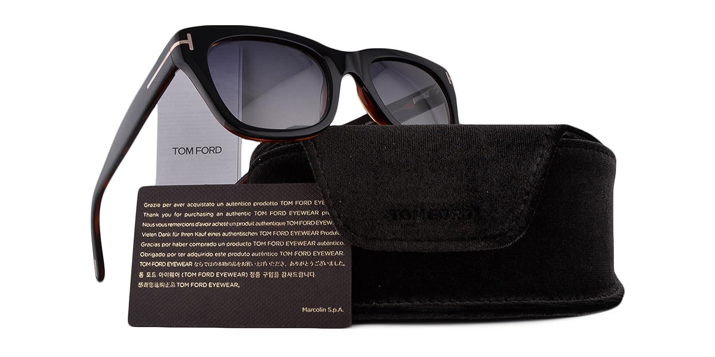 e7169e49f7 Amazon.com  Tom Ford Snowdon FT0237 Sunglasses Black On Brown w Gray  Gradient Lens 05B TF0237 237  Clothing