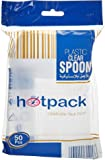 Hotpack Clear Plastic Heavy Duty Disposable spoon- 50Pcs (6291101711566)