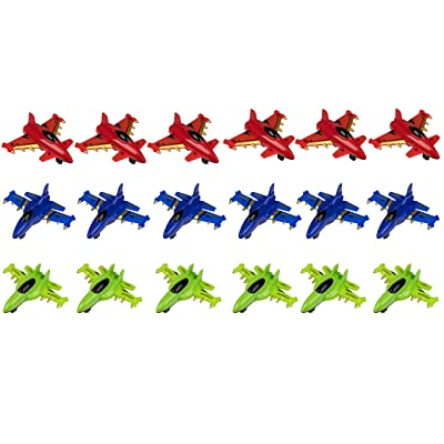 Juvale Party Favor Airplanes Pull-Back Toys (18 Pack): Toys & Games