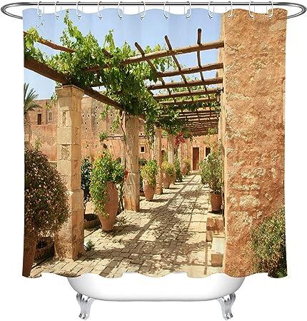 ZHWL6688 Vintage Griego casa Flor Vid Accesorios de baño: Amazon.es: Hogar