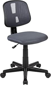 Flash Fundamentals Mid-Back Gray Mesh Swivel Task Office Chair with Pivot Back