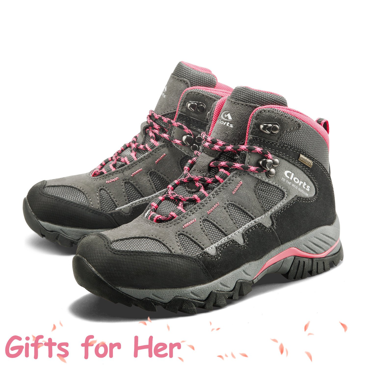 Clorts Women's Suede Leather GTX Waterproof Hiking Boot Outdoor Backpacking Shoe HKM-823E US5.5 by Clorts (Image #3)