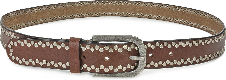 Ledergürtel Damen Gürtel Leder URBAN FOREST Schwarz 2,5 cm
