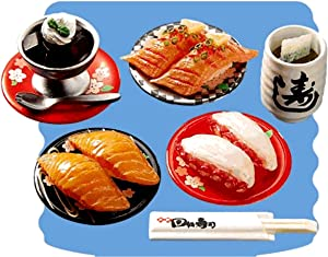 Re-Ment Japanese Sushi Bar #7 Meal Set Retired Collectible Realistic Food Mini Miniature 2006