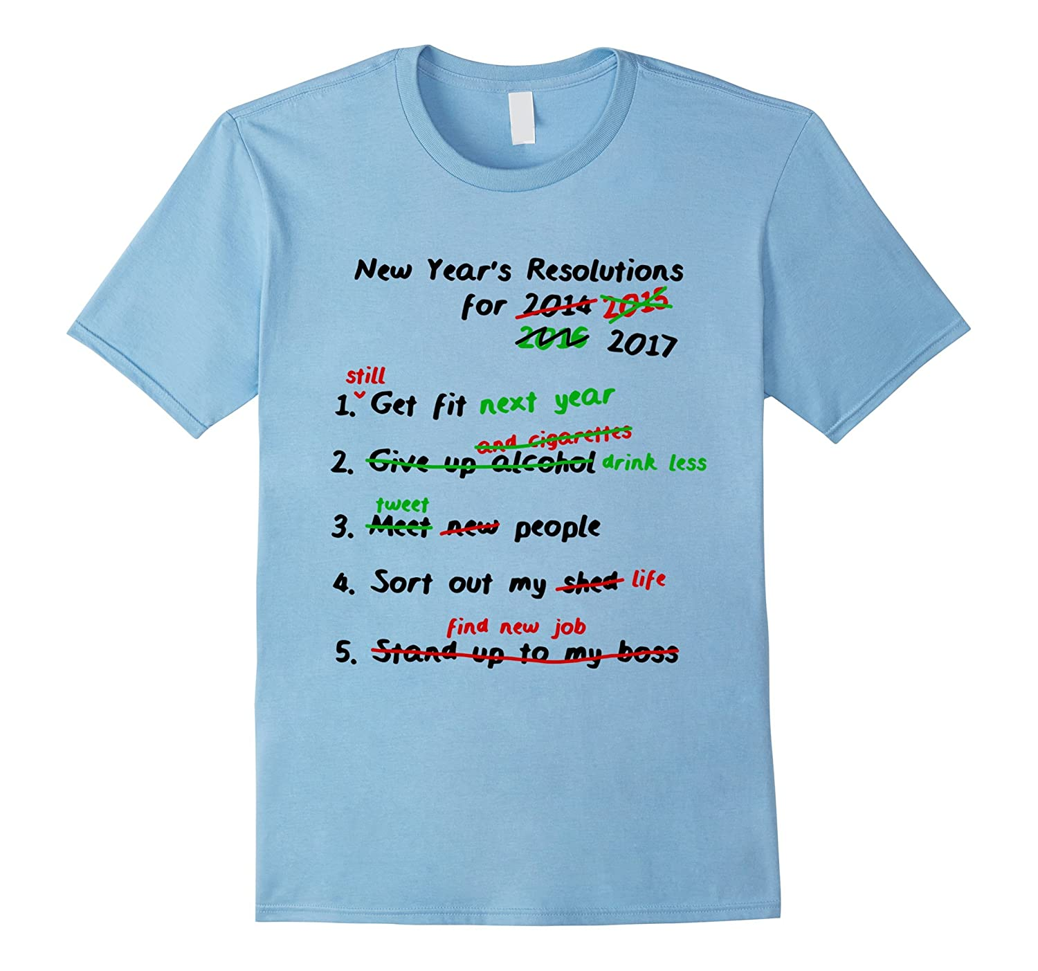 Funny Christmas New Year Resolution T-Shirt 2019- Great ...