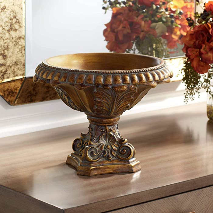 "Brighton 13"" Wide Bronze Finish Decorative Bowl - Kensington Hill"