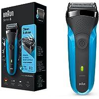 Braun Series 3 310s Wet & Dry - Afeitadora eléctrica para hombre recargable, máquina de afeitar barba, color azul