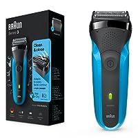 Braun Series 3 310s - Afeitadora eléctrica recargable con tecnología Wet & Dry, color azul