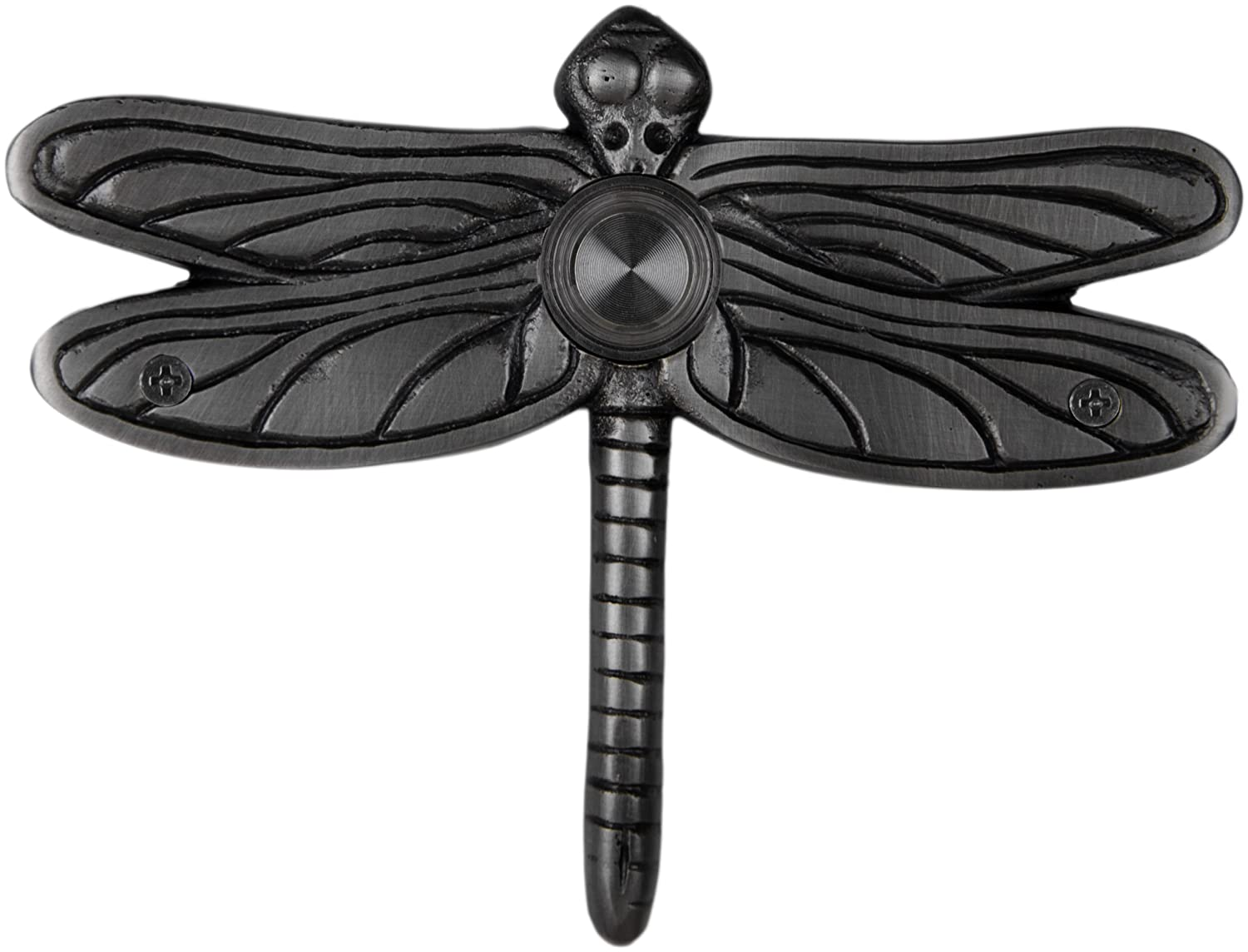 Waterwood Solid Brass Dragonfly Doorbell in Pewter