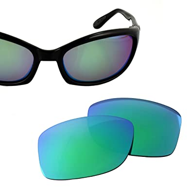 2d987b52c1df5 LenzFlip Polarized Replacement Lenses for Costa del Mar HARPOON - Brown  Polarized with Green Mirror  Amazon.in  Clothing   Accessories