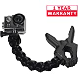 Flexible Clip - Jaws Flex Clamp Mount with Adjustable Gooseneck for Go Pro - GoPro Compatible Hero 6 5 4 3+ 3 Sports Camera Accessories