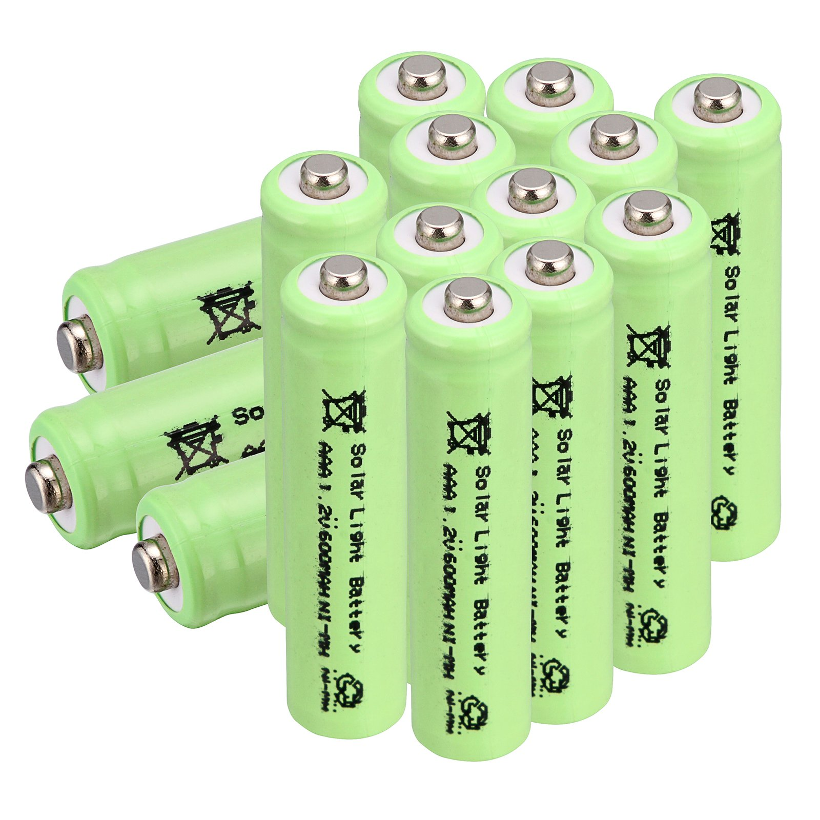 Windmax Greem 15 PCS 3A AAA 1.2V 600mAh Rechargeable Battery White NiMH 3A batteries for Solar Light